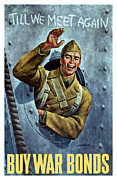 Wwii Propaganda Metal Prints - Till We Meet Again Metal Print by War Is Hell Store