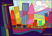 Verlyn Dean Gleisberg Mixed Media - Tint City by Dean Gleisberg