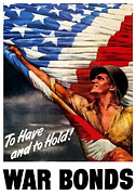 American Flag Digital Art Posters - To Have And To Hold Poster by War Is Hell Store