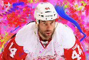 Hockey Painting Originals - Todd Bertuzzi 3 by Donald Pavlica