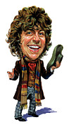 Bbc Prints - Tom Baker as The Doctor Print by Art