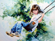 Swing Art Paintings - Tracy by Hanne Lore Koehler