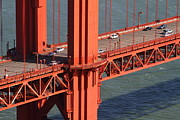 Wingsdomain Art and Photography - Traffic On The Golden Gate Bridge . San...