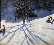 Andrew Macara - Tree and two tobogganers