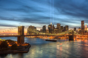 Historic Places Posters - Tribute in Light I Poster by Clarence Holmes
