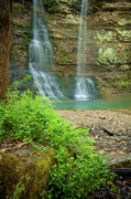 Arkansas Prints - Tripple Falls in Springtime Print by Iris Greenwell