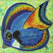 Tampa Painting Originals - Tropical Fish Series 3 of 4 by Gail Kent