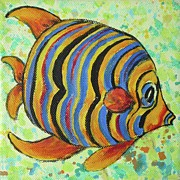 Tampa Painting Originals - Tropical Fish Series 4 of 4 by Gail Kent