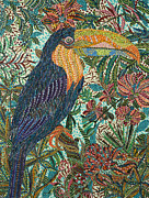 Toucan Paintings - Tropican by Erika Pochybova-Johnson
