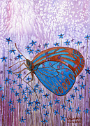Chakra Paintings - Trust Butterfly by Charlotte Garrett