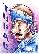 Awesome Pastels Acrylic Prints - Tupac Acrylic Print by Big Mike Roate