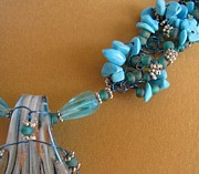 Turquoise Jewelry Prints - Turquoise and Silver Print by Annette Tomek