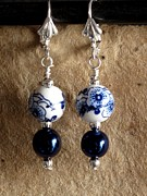 Daytime Jewelry - Two Blue by Jan  Brieger-Scranton