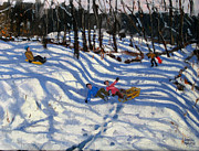Andrew Macara - Two boys falling off a sledge