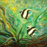 Two Fish Fine Art Print by Gina De Gorna