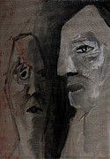 Grey Paintings - Two Old People by Edgeworth Johnstone