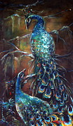 Submission Paintings - Two Peacocks by Heather Calderon
