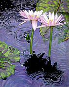 John Lautermilch - Two Pink Lilies in the Rain