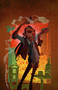 Featured Digital Art Originals - Un Hombre by Nelson Dedos Garcia