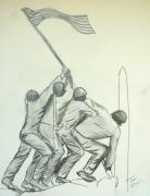 Washington Dc Drawings - Uncommon Valor by Tobi Cooper