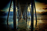 San Clemente Digital Art Framed Prints - Under the Boardwalk Framed Print by Chris Lord