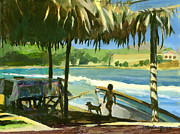 Lazy Dog Paintings - Under the Palapa by Michael Jacques