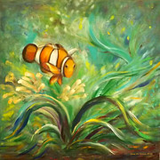Under The Sea 11 Fine Art Print by Gina De Gorna