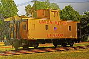 Caboose Digital Art Prints - Union Pacific Caboose Print by Barry Jones