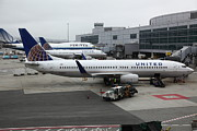 Wingsdomain Art and Photography - United Airlines At Foggy SFO...