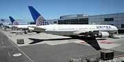 Wingsdomain Art and Photography - United Airlines Jet Airplane at San...