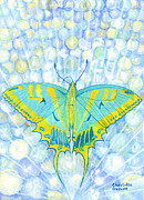 Chakra Paintings - Unity Butterfly by Charlotte Garrett
