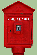 Wingsdomain Art and Photography - Urban Fabric . Old Fire Alarm . 7D14479