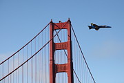 Wingsdomain Art and Photography - US Navy Blue Angels Crossing The San...