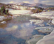 George Gardner Symons - Valley Stream in Winter