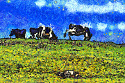 Wingsdomain Art and Photography - Van Gogh Goes Cow Tipping 7D3290