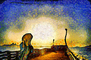 Wingsdomain Art and Photography - Van Gogh Screams On The Berkeley Pier...