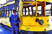 Wingsdomain Art and Photography - Van Gogh Visits The Cablecar Motorman...