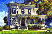 Wingsdomain Art and Photography - Van Gogh Visits The Old Victorian...
