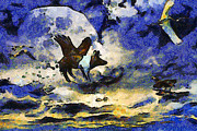 Wingsdomain Art and Photography - Van Gogh.s Flying Pig 2