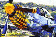 Wingsdomain Art and Photography - Van Gogh.s P-51 Mustang Fighter Plane ....