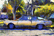 Wingsdomain Art and Photography - Van Gogh.s Plymouth Barracuda in...