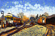 Wingsdomain Art and Photography - Van Gogh.s Train Station 7D11513