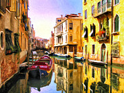 Dominic Piperata Metal Prints - Venice Morning Metal Print by Dominic Piperata