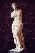 Louvre Museum Framed Prints - Venus de Milo Framed Print by EyeKandi Photography