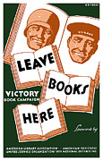 Books Framed Prints - Victory Book Campaign Framed Print by War Is Hell Store