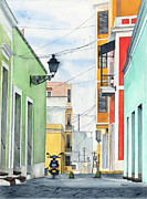 Building Painting Framed Prints - Viejo San Juan Framed Print by Tom Dorsz