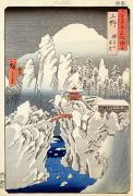 Hiroshige - View of Mount Haruna in the Snow