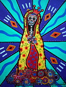 Pristine Cartera Turkus - Virgin Guadalupe Day Of The Dead