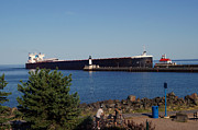 Duluth Art - Walter J McCarthy Jr enters Duluth MN Harbor by Lori Tordsen