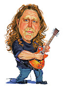 Music Metal Prints - Warren Haynes Metal Print by Art